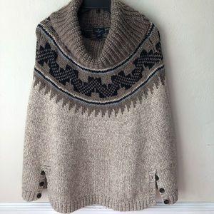 American Eagle Wool Blend Cowl Neck Poncho